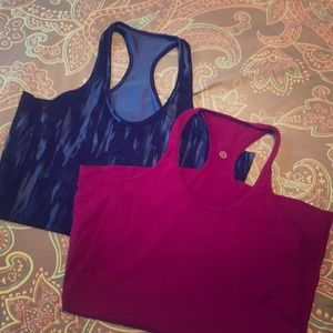Lululemon racer back tanks